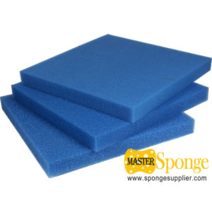 blue color open cell polyurethane foam for water purification