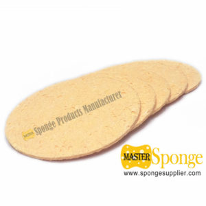 Biocide free compressed cellulose sponge