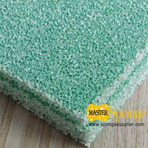 Photo catalyst activated carbon filter foam sponge sheet