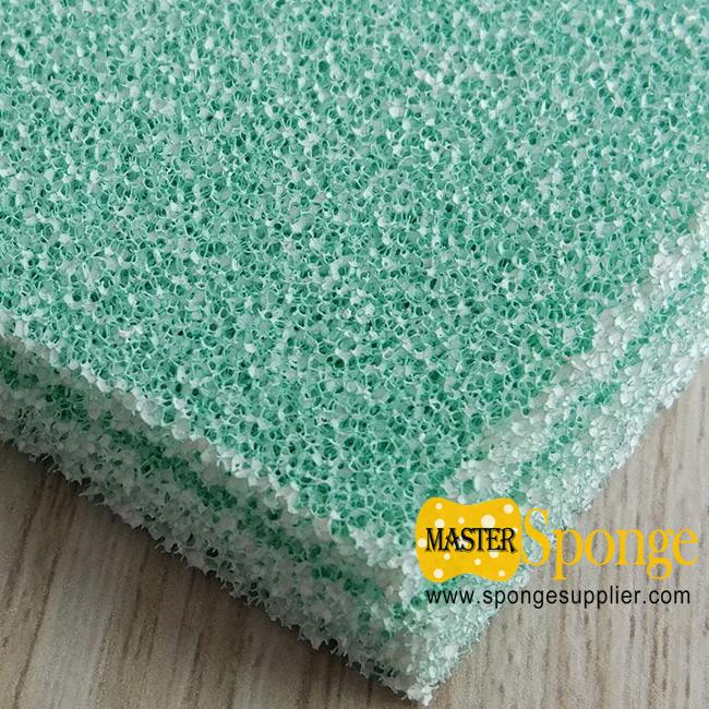 Photo catalyst activated carbon filter foam sponge sheet