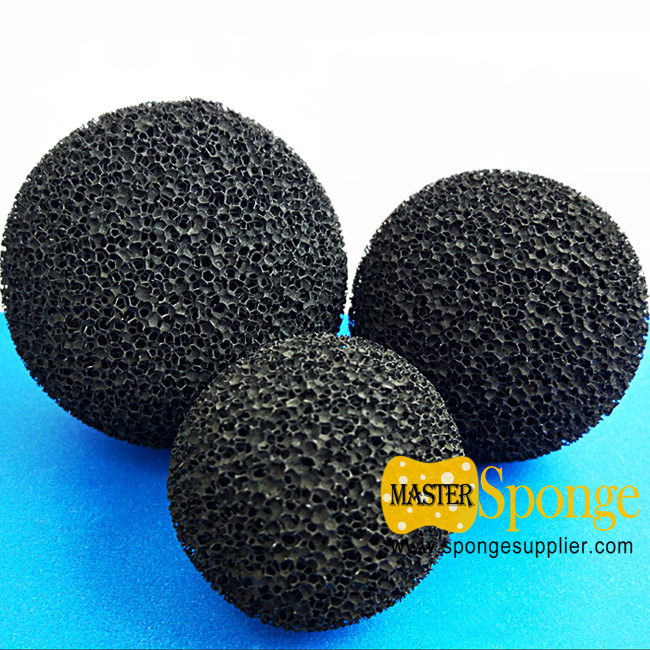 Powdered activated charcoal carbon sponge foam ball (PAC foam ball)