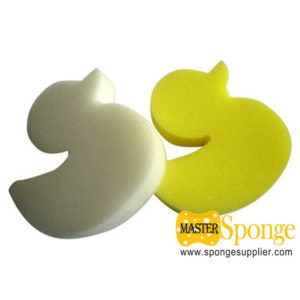 customized special-shaped bath sponge toy sponge duck