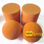 Orange-Sponge-Silicone-Rubber-Ball-and-Cylinder-for-Concrete-Pipeline-Cleaning