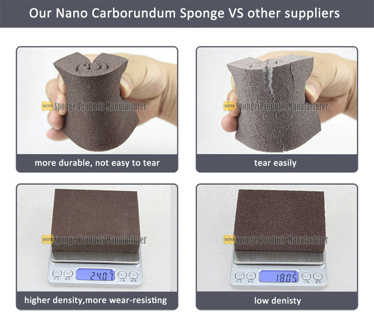 high quality durable nano carborundum sponge china supplier