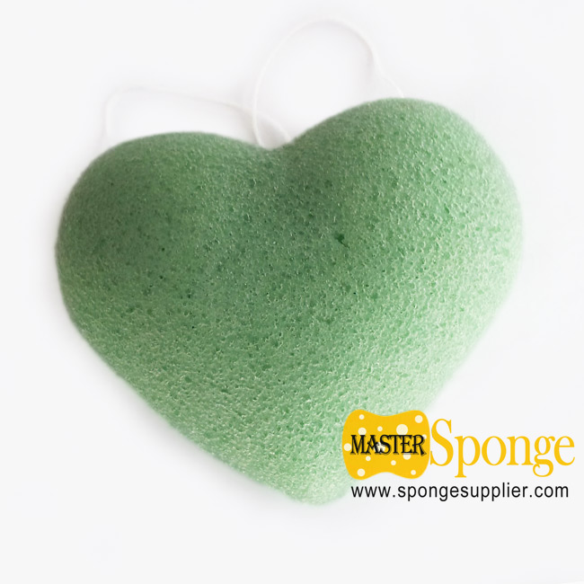 Heart Shaped 100% Natural Facial & Body Cleaning Konjac Sponge