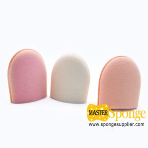 Hydrophilic PU with Vitamin E Washable Finger Puff Sponge Mitten
