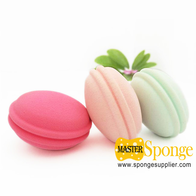 Latex Free Cute Macaron Shape 3D Makeup Sponge Blender