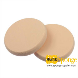 NBR SBR Round shape edging Wet and Dry dual-use Powder Puff Sponge