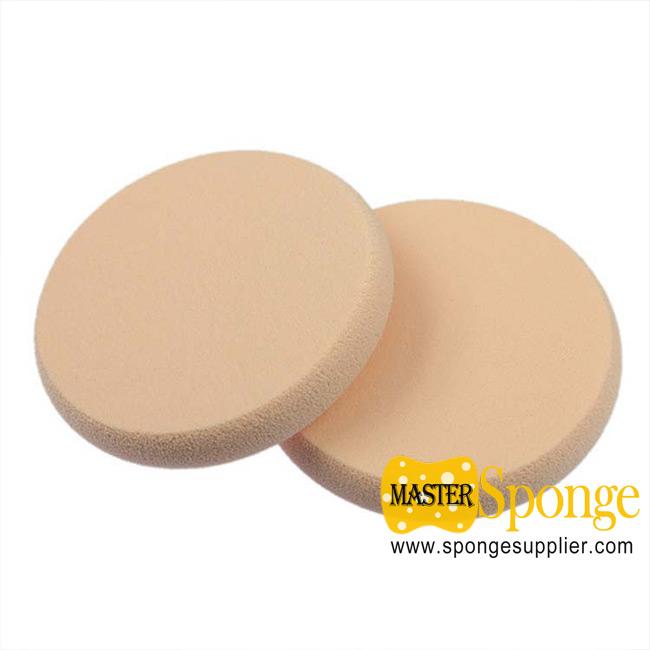 NBR SBR Round shape edging Wet and Dry dual-use Powder Puff Sponge