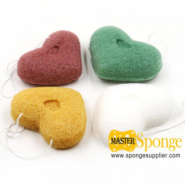 Organic Vegetable Fibre Face Cleaning Konjac sponges Konnyaku Facial Sponge