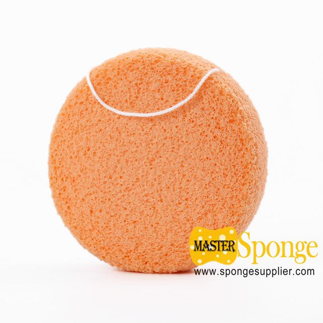 Semi-wet Soft PVA Cleansing Baby Bath Sponge Facial Sponge